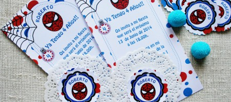 Invitaciones Spiderman Merbo Events