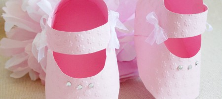 Zapatitos caja para detalles bebe bautizo Merbo Events