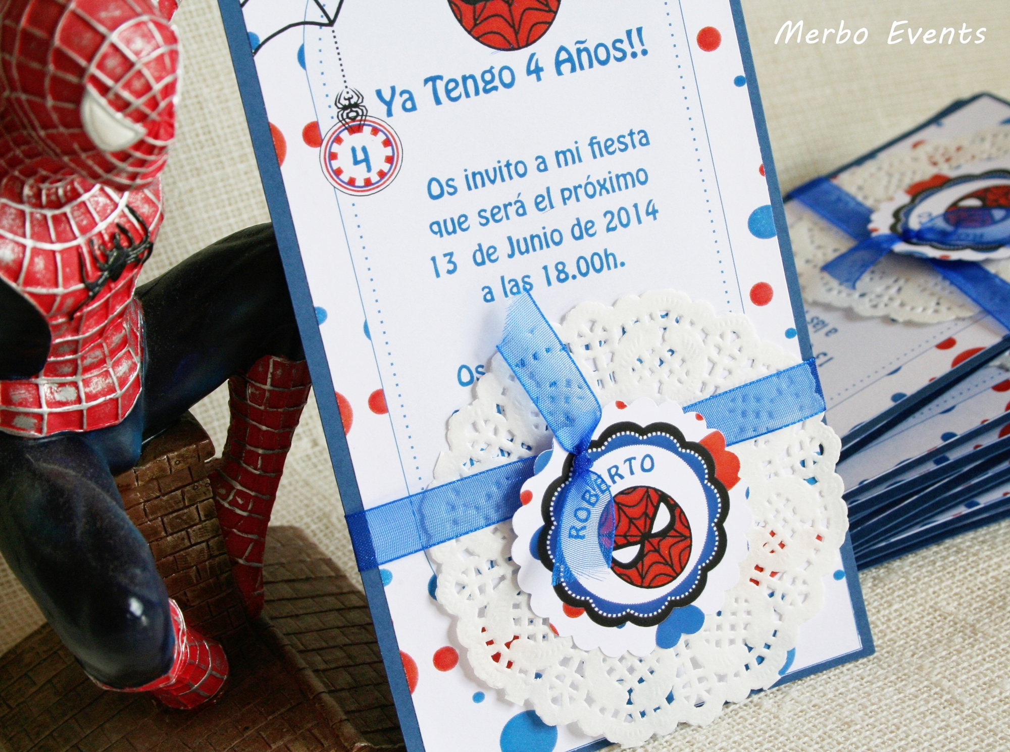 Invitaciones Cumpleaños Spiderman - Merbo Events
