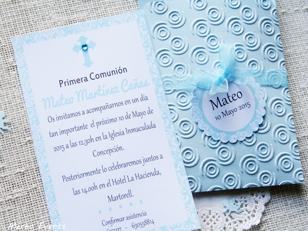 invitaciones comunin nube celeste merbo events