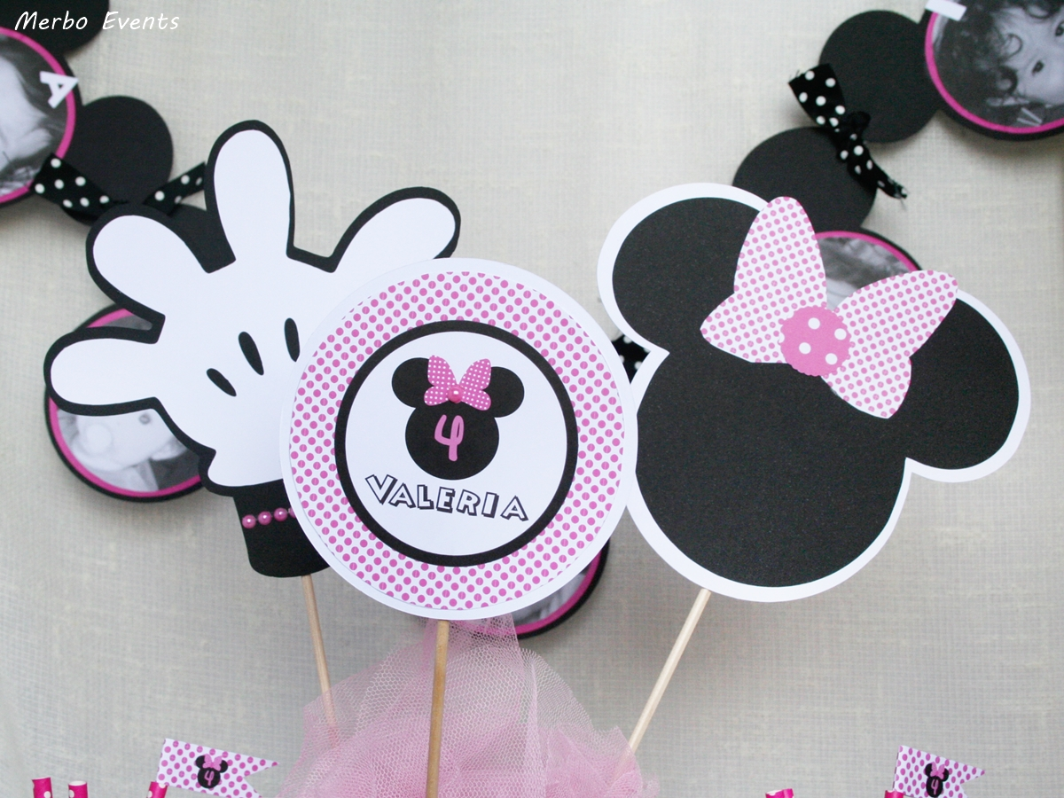Decoraci n minnie mouse fucsia merbo events for Decoracion de i