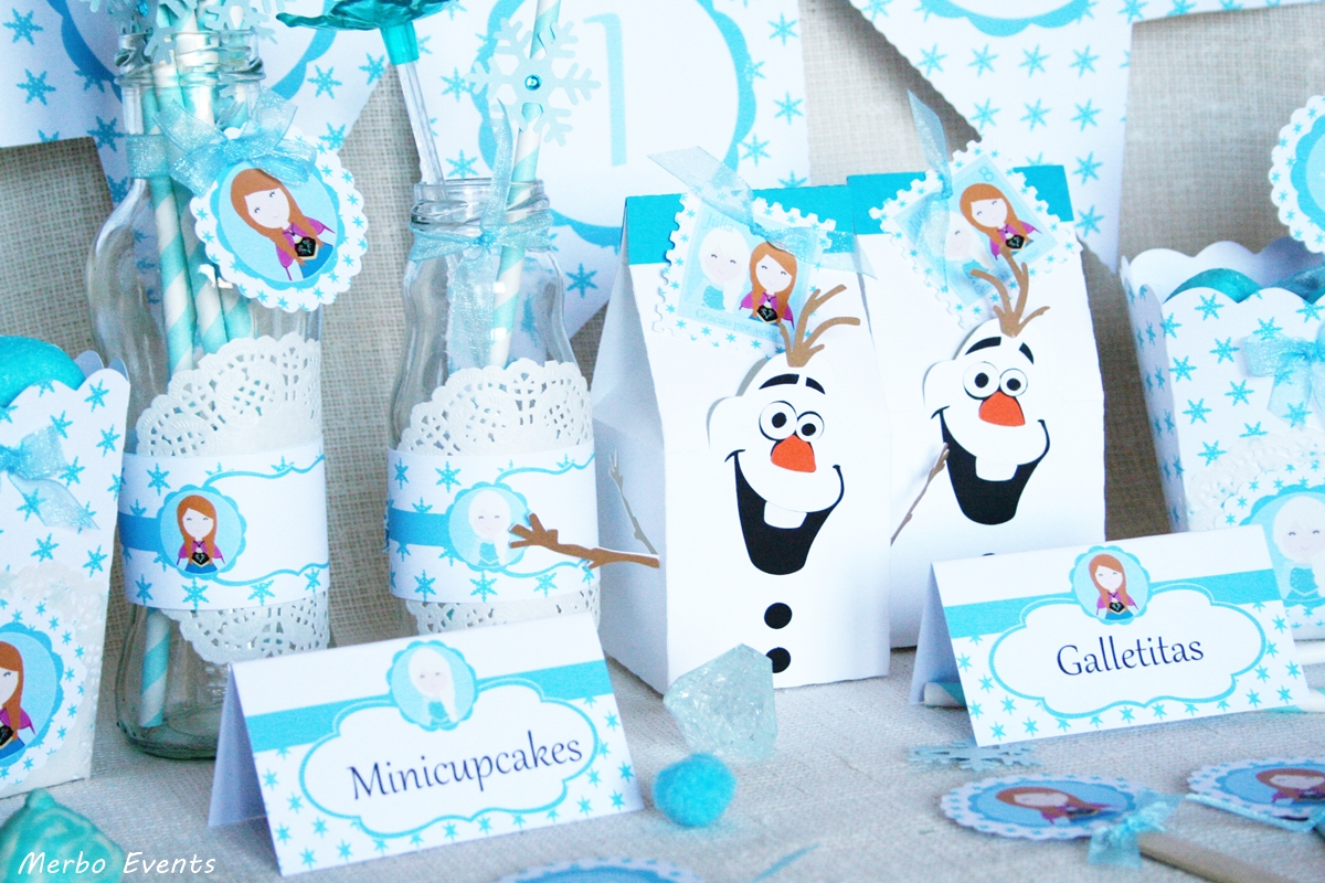 Kit decora tu candy bar fiesta frozen merbo events - Fiesta de cumpleanos infantil original ...
