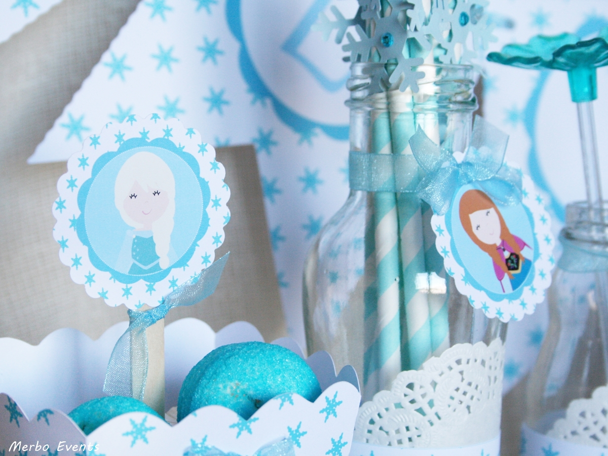 kit decora tu candy bar fiesta frozen merbo events